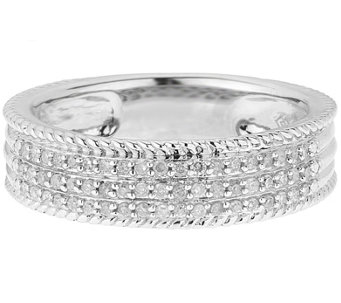 Diamond Band Ring, Sterling, 1/4 cttw, by Affinity - J344115