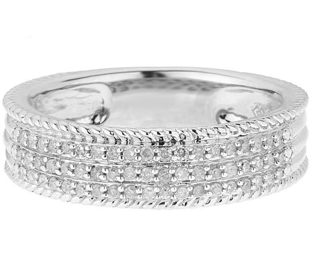 Diamond Band Ring, Sterling, 1/4 cttw, by Affinity