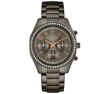 Caravelle New York Women's Gunmetal Watch w/ Chronograph Dial - J344215