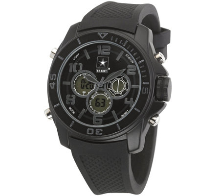 Wrist Armor U.S. Army C24 Multifunction Watch -Black Stealth