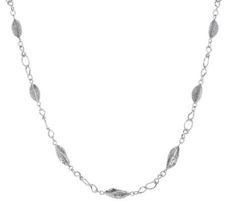 "Or Paz 16.0g Sterling 24"" Leaf Station Necklace"