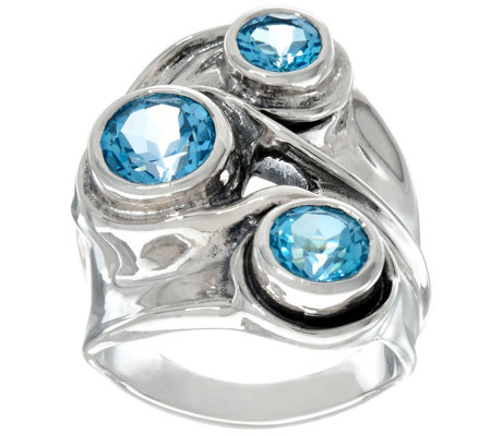 """As Is"" Hagit Sterling Silver 3 cttw Gemstone Ring"