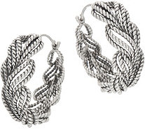 Tiffany Kay Studio Sterling Silver Large Eyelet Hoop Earrings - J352315
