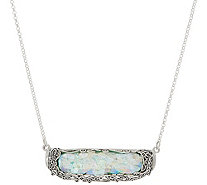 Or Paz Sterling Silver Roman Glass Bar Necklace - J354315