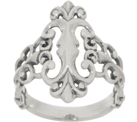 Carolyn Pollack Sterling Silver Country Couture Signature Ring