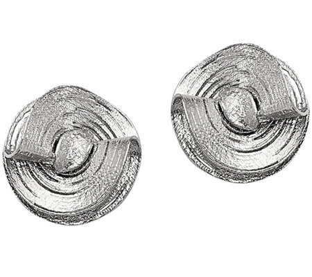 Sterling Diamond-Cut Freeform Earrings by Silver Style