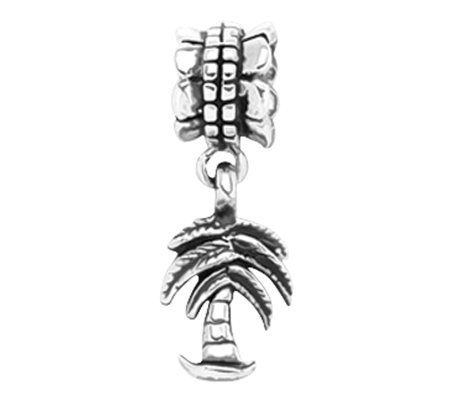 Prerogatives Sterling Palm Tree Dangle Bead