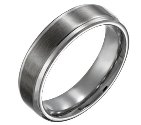 Titanium Beveled Edge 6mm Brushed and Polished-Unisex