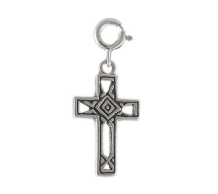Sterling Southwestern Cross Charm