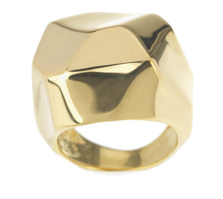 Veronese 18K Clad Polished Geometric Dome Ring