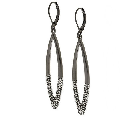 Joan Rivers Italian Inspired Drop Earrings with Pave'