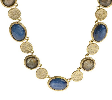 """As Is"" Veronese 18K Clad 18"" Multi-Gemstone Necklace"