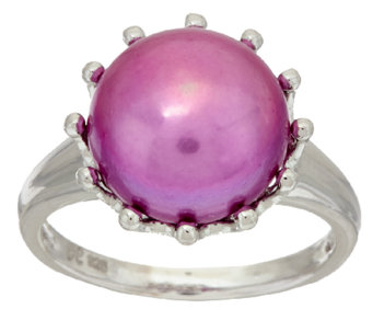 Honora Cultured Pearl 12.0mm Bold Sterling Ring - J294516