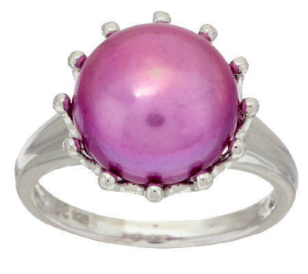 Honora Cultured Pearl 12.0mm Bold Sterling Ring