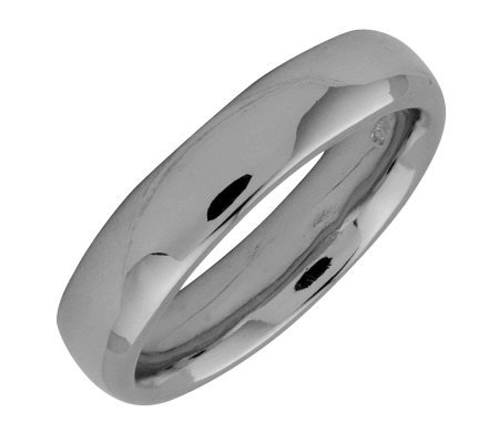 Simply Stacks Sterling Black Rhodium-Plated 4.25mm Ring