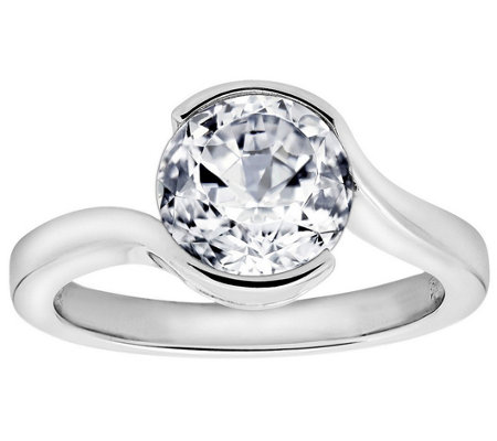 Diamonique 2.40 cttw Ring, Platinum Clad