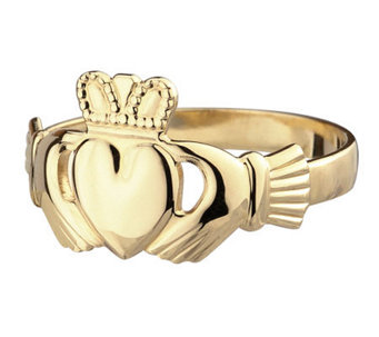 Solvar Ladies Claddagh Ring, 14K Yellow Gold - J311316