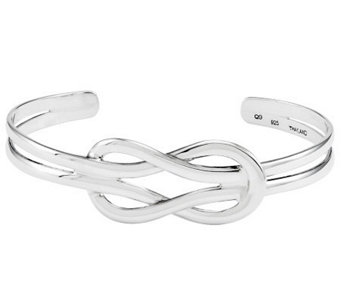 Sterling Polished Solid Knot Cuff - J312716