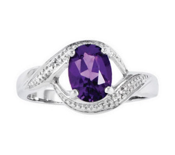Sterling Faceted Oval Gemstone Ring - J313816