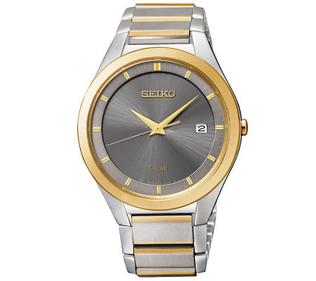 Seiko Men's Stainless Steel Two-Tone Solar Dress Watch