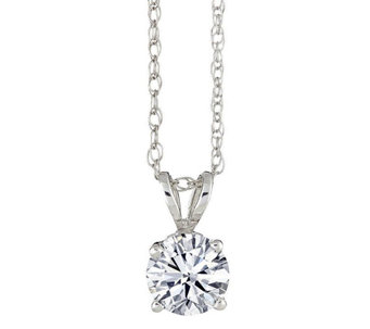 Round Diamond Solitaire Pendant, 14K Gold 1/2ct by Affinity - J316916
