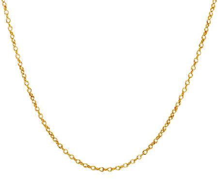 "Vicenza Gold 24"" Polished Double Round Link Chain, 14K 1.5g"
