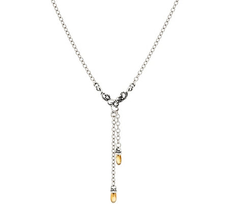 Carolyn Pollack Sterling Silver Gemstone Y Necklace