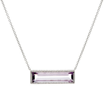 Jane Taylor Gemstone Sterling Silver Bar Necklace 9.00 cttw - J332116