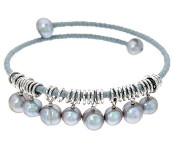 Honora Cultured Pearl Coiled Charm Bracelet - J333716