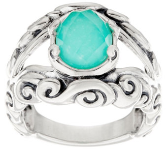 Carolyn Pollack Empress Sterling Silver Gemstone Doublet Ring - J345916