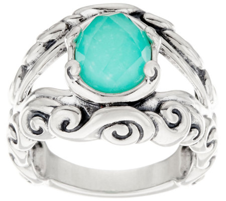 Carolyn Pollack Empress Sterling Silver Gemstone Doublet Ring