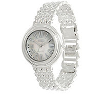 Ecclissi Sterling Silver Round Roman Numeral Bracelet Watch - J346116