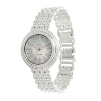 Ecclissi Sterling Silver Round Roman Numeral Bracelet Watch