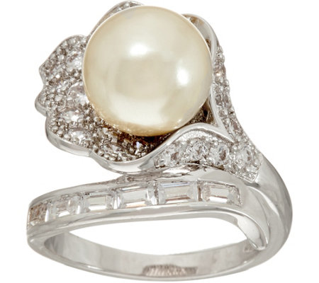 Grace Kelly Collection Simulated Pearl Flower Ring