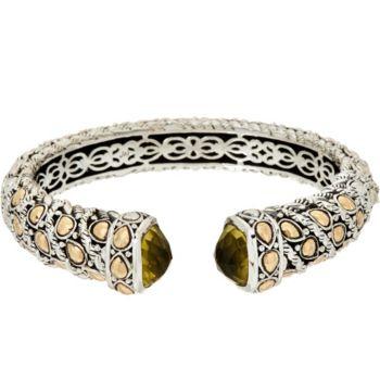 JAI Sterling Silver & 14K Gold Lotus Petal Cuff