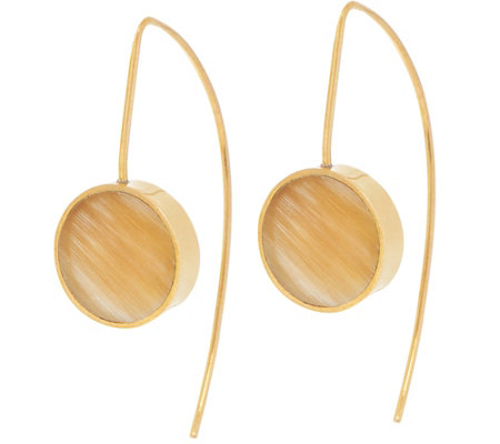 Soko Horn Dot Threader Earrings