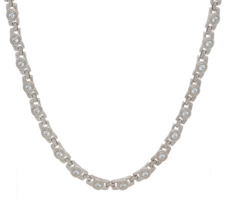 "Judith Ripka Sterling 18"" 4.50 cttw Diamonique Necklace"