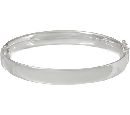 """As Is"" UltraFine Silver Small Solid Bangle Bracelet"