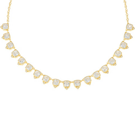 """As Is"" Judith Ripka 14K Clad 22.50 cttw Diamonique Necklace"