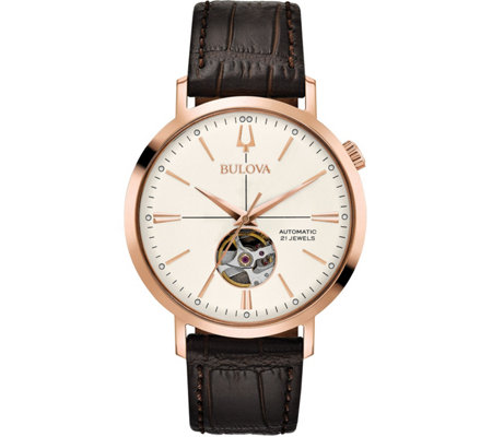 Bulova Men's Classic Automatic Leather Strap Watch