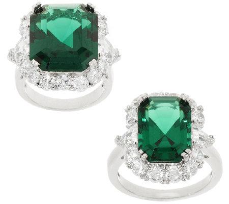 the elizabeth simulated emerald ring qvc