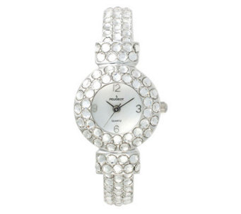 Peugeot Ladies Full Crystal Bangle Watch - J103417