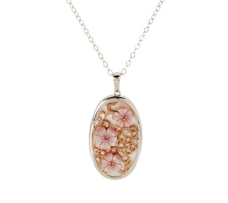 Smithsonian Mother-of-Pearl Cherry Blossom Sterling Enhancer