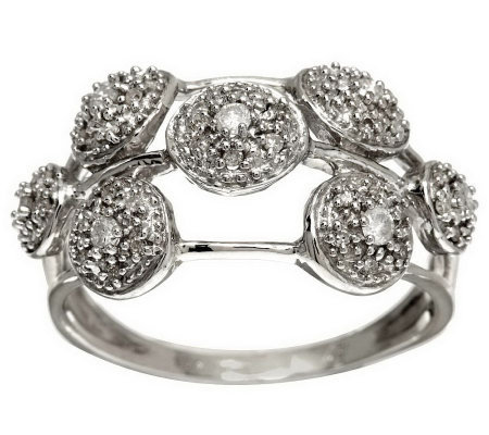 Scattered Pave' Diamond Ring, Sterling 1/4 cttw by Affinity