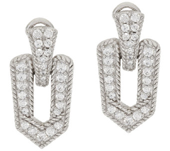 Judith Ripka Sterling & 1.25 ct tw Diamonique Earrings - J296817