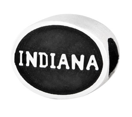 Sterling Silver Indiana University Bead