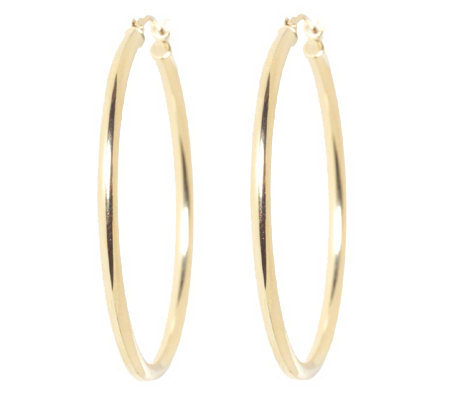 EternaGold Polished Hoop Earrings 14K Gold Page 1 — QVC