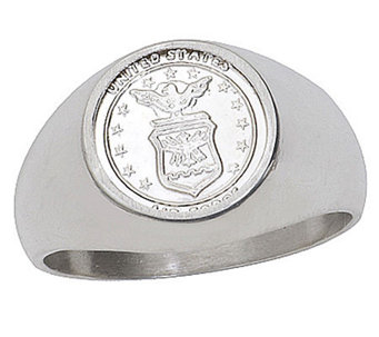 Sterling Silver Air Force Signet Ring - J303717