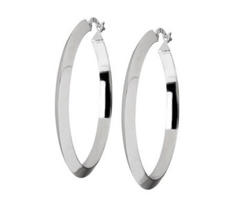 "UltraFine Silver 2"" Highly Polished Round HoopEarrings - J305617"