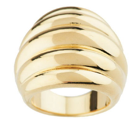 """As Is"" Oro Nuovo Bold Domed Ribbed Ring, 14K Gold"